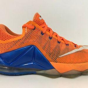 NIKE LeBron XII 12 Basketball Shoe Sz 9 Low Citrus